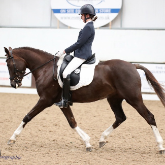 Megan Assouline wins Bury Farm U21 Team test with pony Filur